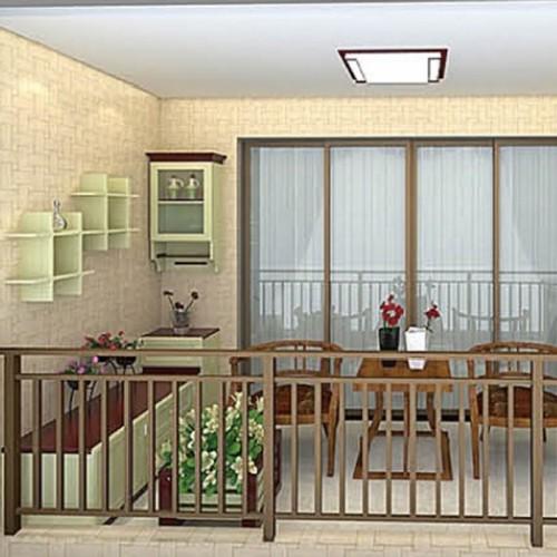 红柚木枫丹白露结合全铝阳台柜MRALV-L11