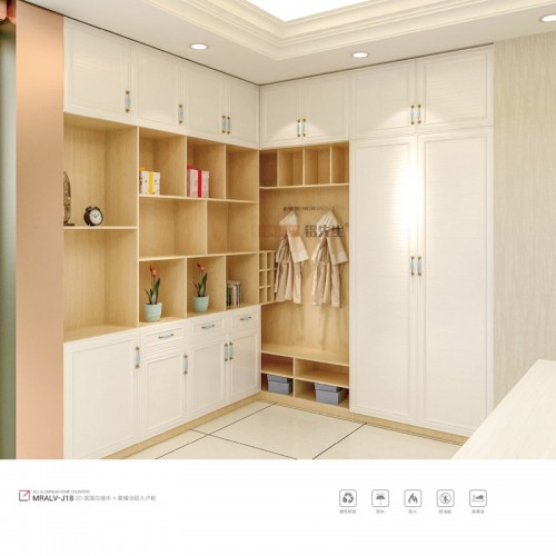 3D英国白橡木加黄檀全铝入户柜MRALV-J18