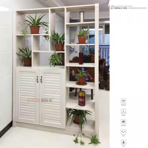 3D英国白橡木全铝玄关柜MRALV-H09