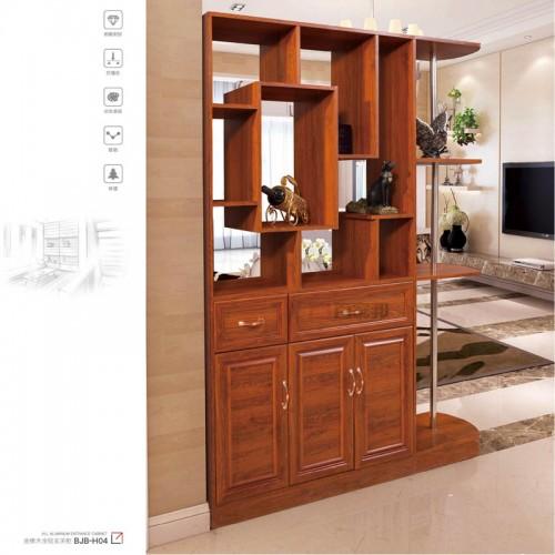客厅金橡木全铝玄关柜BJB-H04