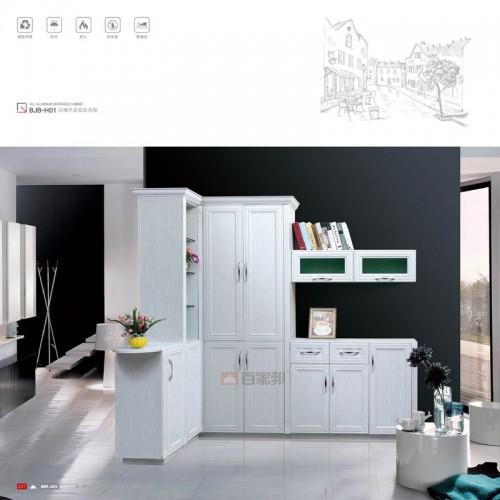 白橡木全铝玄关柜BJB-H01
