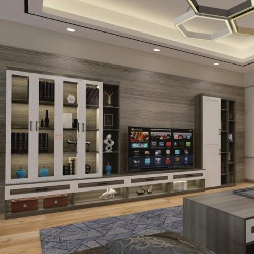 客厅全铝组合电视柜背景柜05