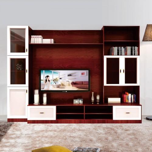 简约现代客厅组合电视柜背景柜07