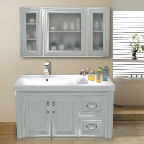 全铝白橡木浴室柜05