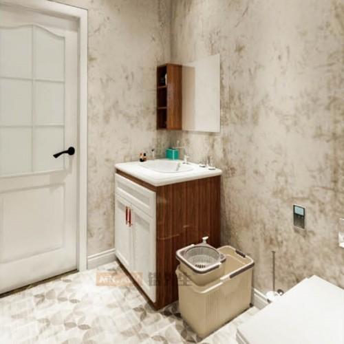 黑金刚加白橡木全铝浴室柜MRALV-F47