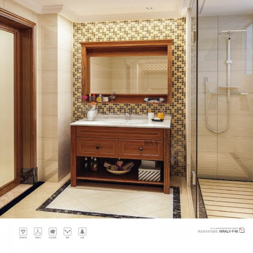 黑金刚全铝浴室柜浴室镜MRALV-F46