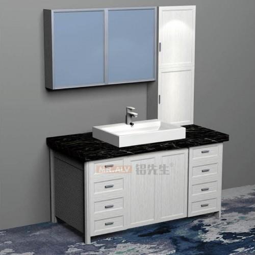 简易3D英国白橡全铝浴室柜BJB-F43