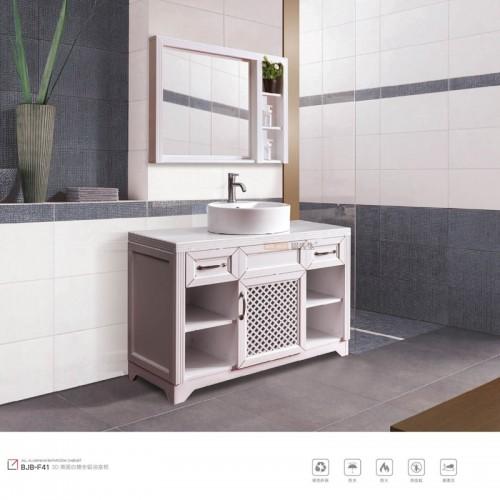 3D英国白橡全铝浴室柜浴室镜BJB-F41
