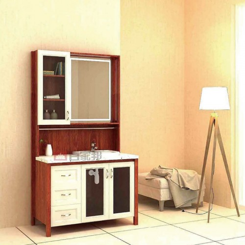 枫丹白露加金橡木全铝浴室柜BJB-F27