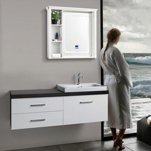 白橡木智能全铝浴室柜BJB-F18