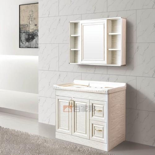 白橡木全铝落地浴室柜BJB-F11