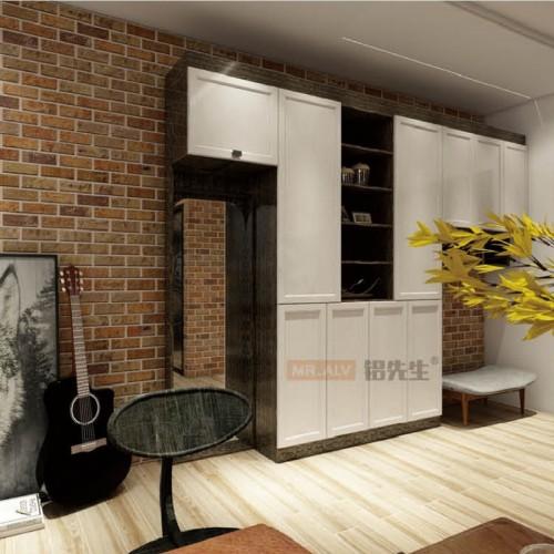 3D金丝黑檀加白橡木全铝书柜MRALV-E14