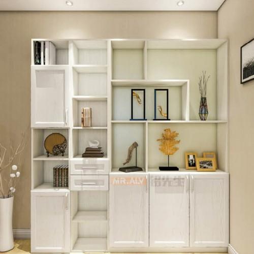 3D英国白橡全铝书柜MRALV-E09