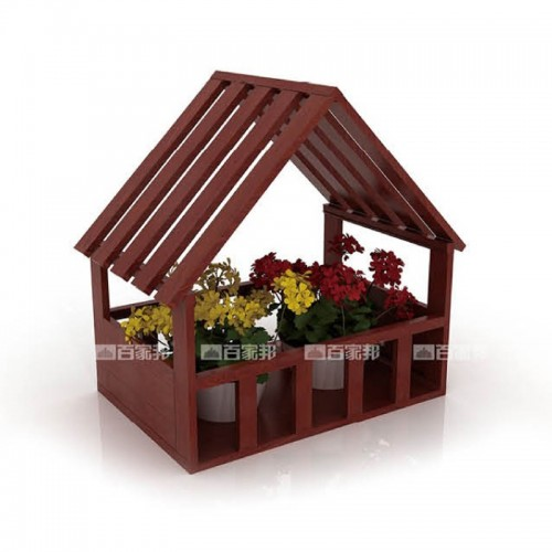红柚木房型全铝花槽BJB-D26