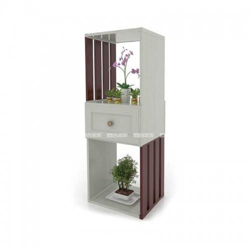 白橡木红柚木组合全铝花槽BJB-D22