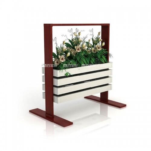 白橡木红柚木组合全铝花槽BJB-D18