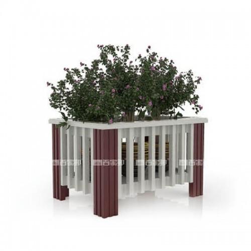 白橡木加红柚木全铝花槽BJB-D08