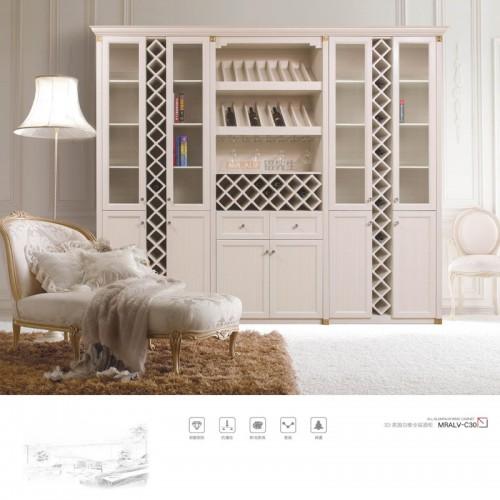3D英国白橡全铝酒柜MRALV-C30