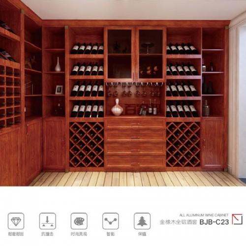 金橡木全铝酒窖酒柜BJB-C23