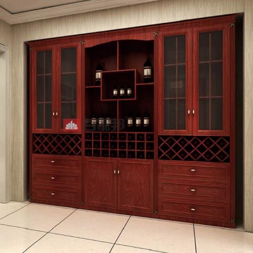 红柚木组合全铝酒柜BJB-C12