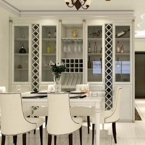 白橡木餐厅全铝酒柜BJB-C07