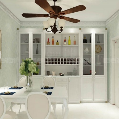 餐厅白橡木全铝酒柜BJB-C06