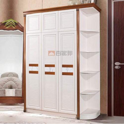 白橡木全铝三门衣柜BJB-B40