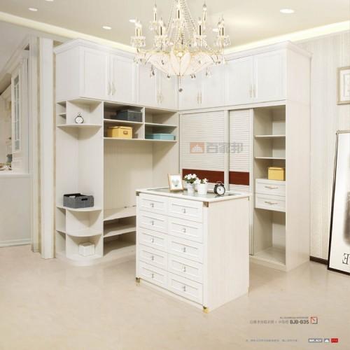 白橡木全铝衣柜中岛柜BJB-B35