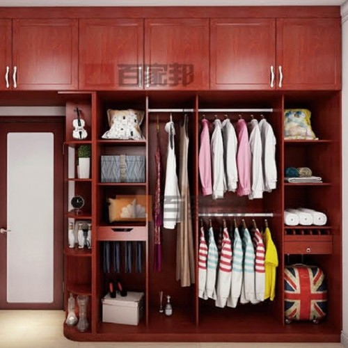 红柚木全铝衣柜顶箱柜BJB-B31