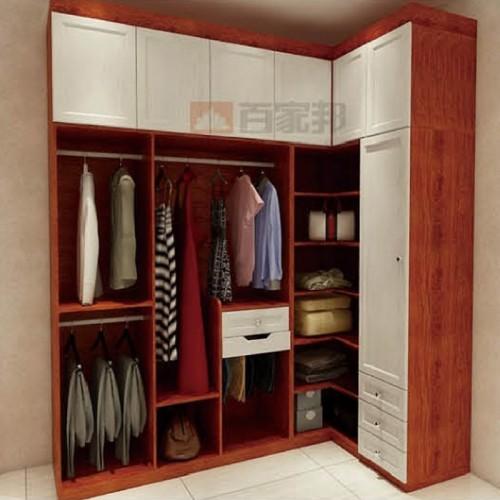 金橡木加白橡木全铝衣柜BJB-B30