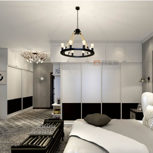 白橡木卧室简约全铝衣柜BJB-B25