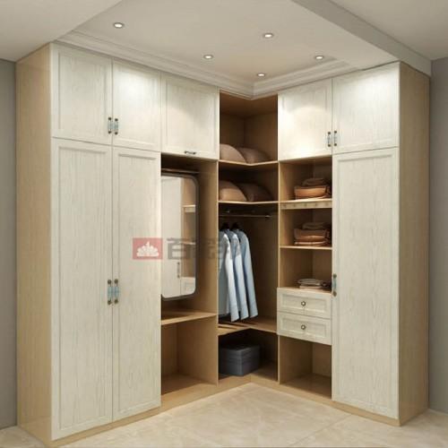 枫丹白露白橡木组合全铝衣柜BJB-B18