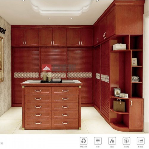 红柚木全铝衣柜BJB-B09
