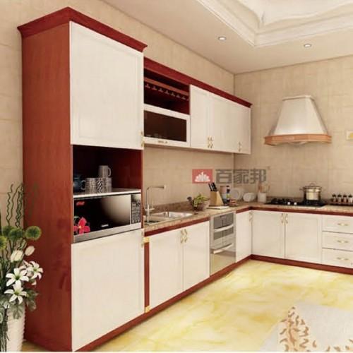 红柚木加白橡木全铝橱柜BJB-A06