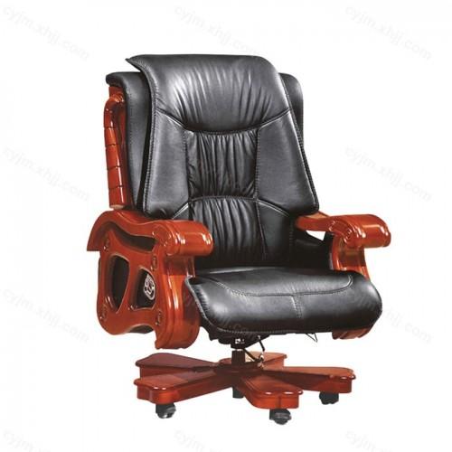 真皮实木靠背转椅老板椅08