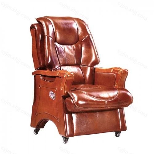 办公椅头层牛皮老板椅10