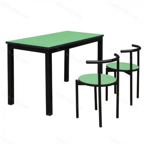 学生食堂快餐桌椅01