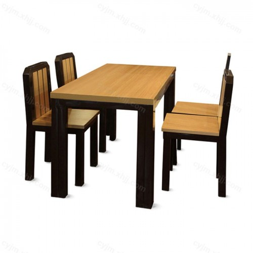 简约现代食堂餐桌椅04