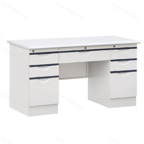 钢制办公桌写字台带锁带抽屉02