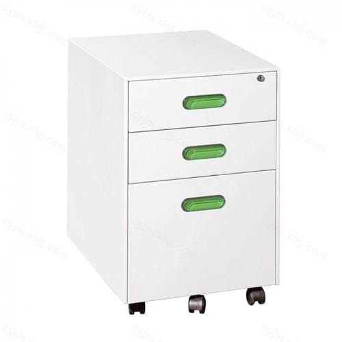 钢制活动矮柜带锁三抽文件柜07