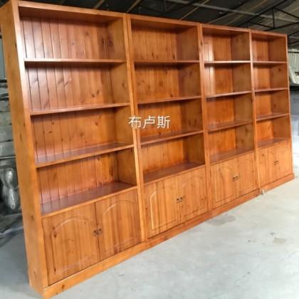 定制酒柜书柜实木碳化木酒架厂家直销简易加厚木制多宝阁香河家用