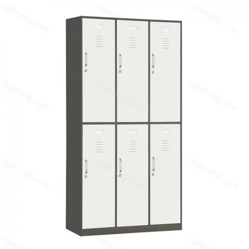六门套色带锁更衣柜储物柜01