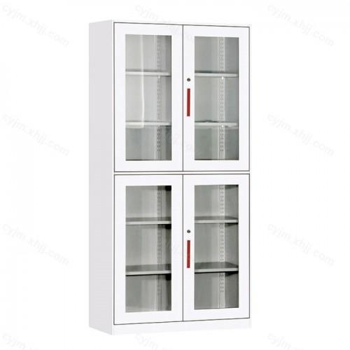 薄边通体上下玻璃门平开文件柜09