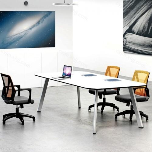 极简现代办公会议桌01