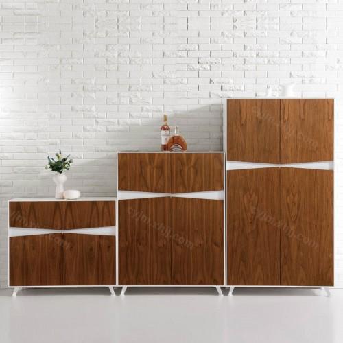 简约现代木质办公档案柜04