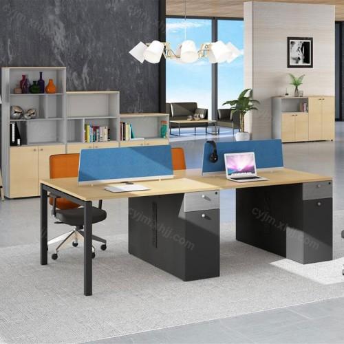 简约现代屏风办公电脑桌03