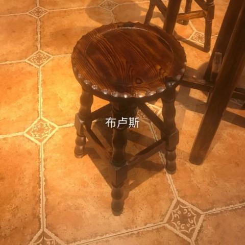 高吧凳矮凳子木凳碳化木火烧木防腐木实木酒吧里用的家用吧台饭店