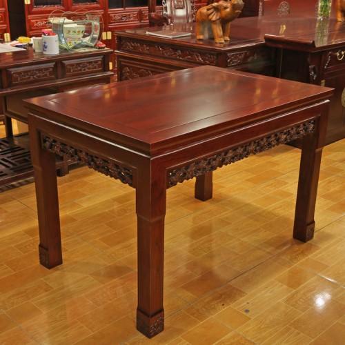 榆木仿古中式餐桌椅组