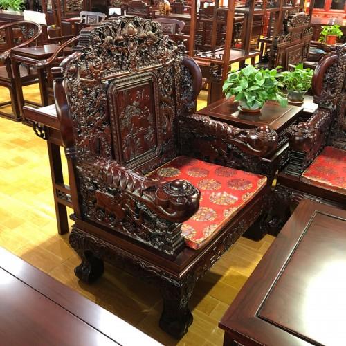 中式榆木明清古典雕刻