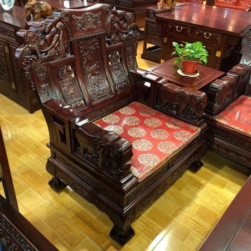 明清古典客厅榆木精雕